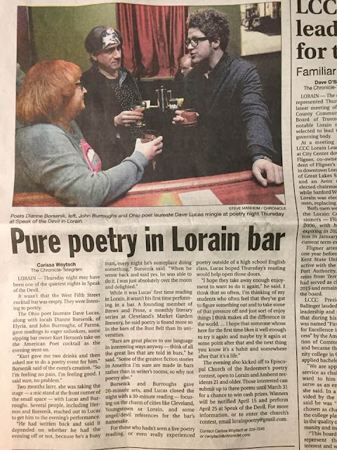 scan of article in Lorain Chronicle Telegram newspaper