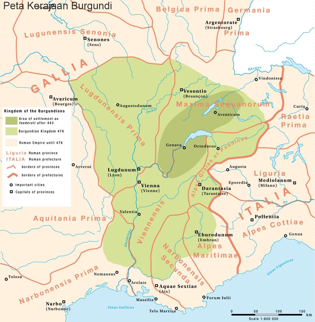 Peta Kerajaan Burgundi