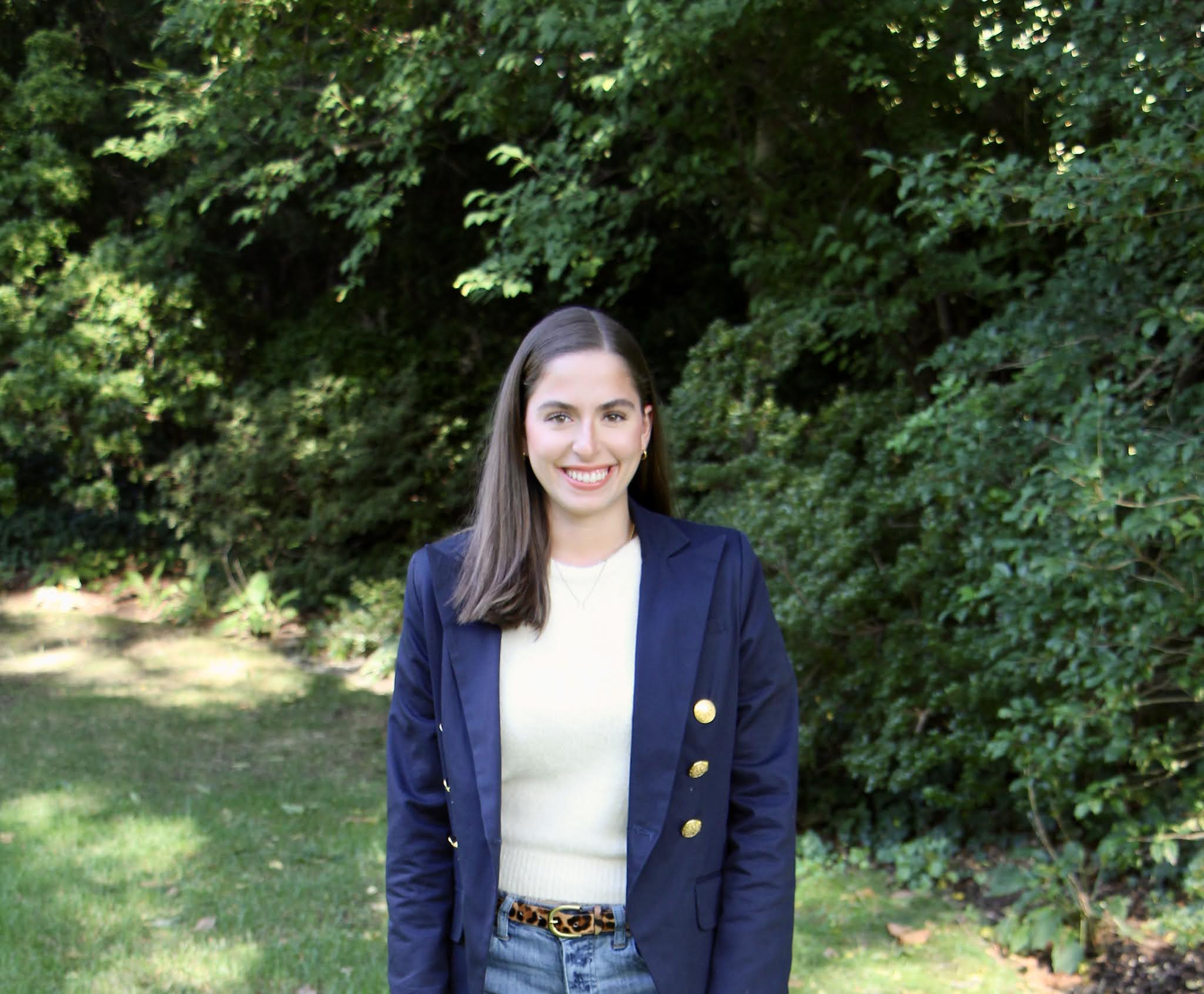 boyfriend jeans, double breasted blazer, navy blazer, fall fashion, preppy fall fashion