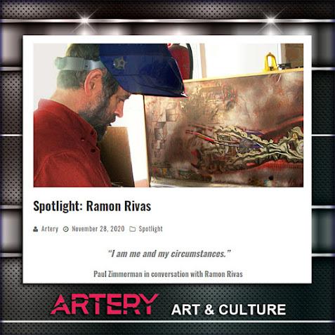 Ramón Rivas, creador del Rivismo,  en la fotografía  utilizada en la entrevista de Artery NYC