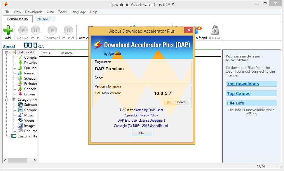 Download Accelerator Plus (DAP) Premium 10.0.5.7
