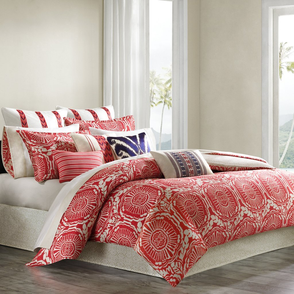 Coral colored comforter and bedding sets - Bedroom sheets and comforter sets ...