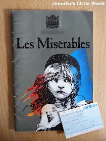 Les Miserables vintage programme and ticket