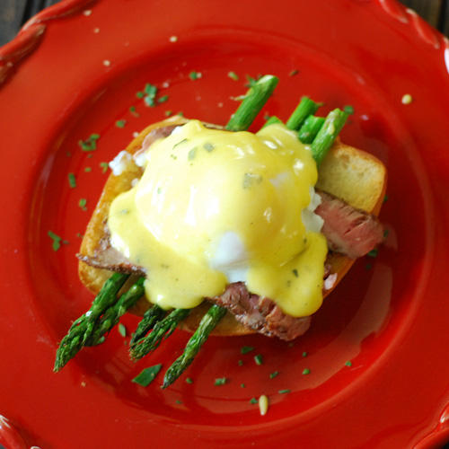Easter Brunch Steak and Eggs Benedict