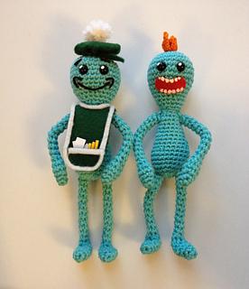 Free Meeseeks crochet patterns