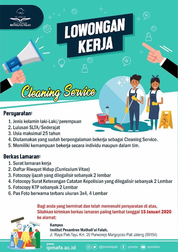 Lowongan Kerja Cleaning Service