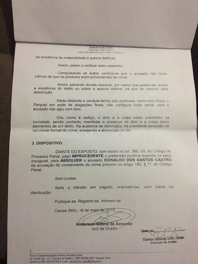 JUSTIÇA - Empresário da Playboy Acessórios é inocentado de crime de receptação em Caxias