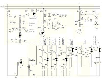 Принципиальная схема системы управления  компрессором кондиционирования воздуха