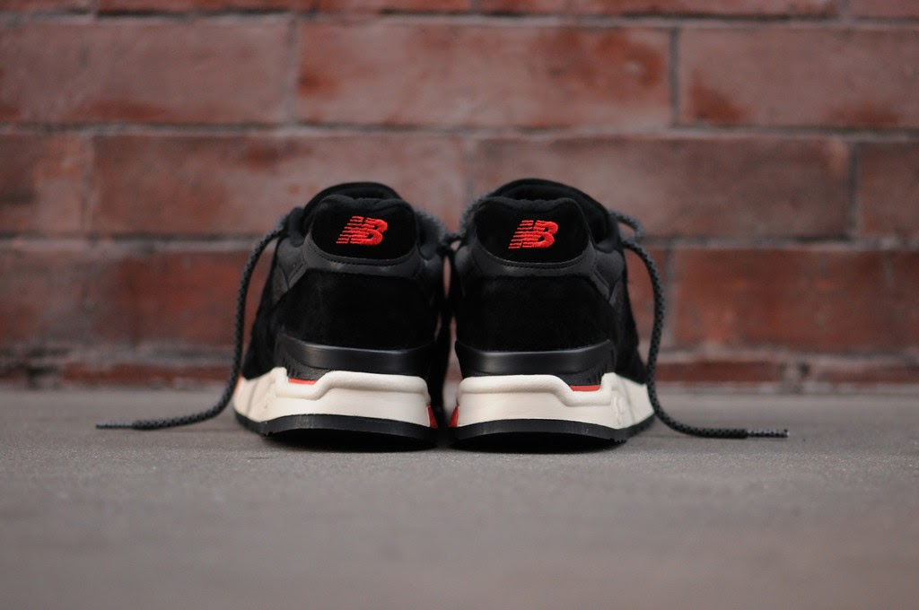on sale 492f8 47bbd TODAYSHYPE: New Balance 998 - Black / Red (Re-issue Global ...