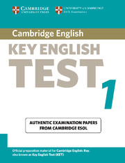 Cambridge Key English Test 1 with answer