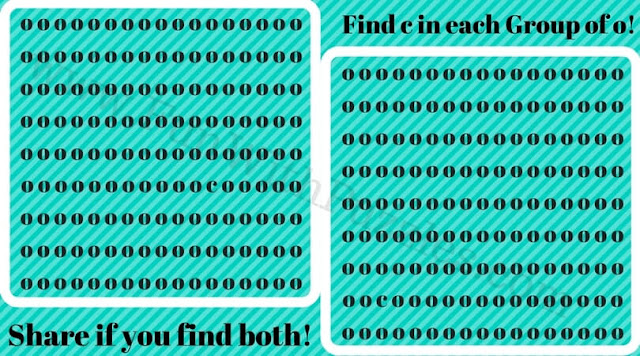 Can you find hidden letter c in each group?
