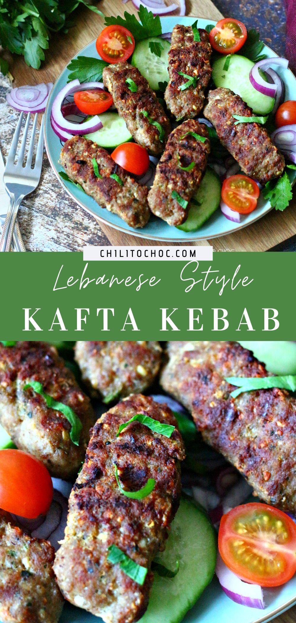 Lebanese Kafta Kebab - pinterest