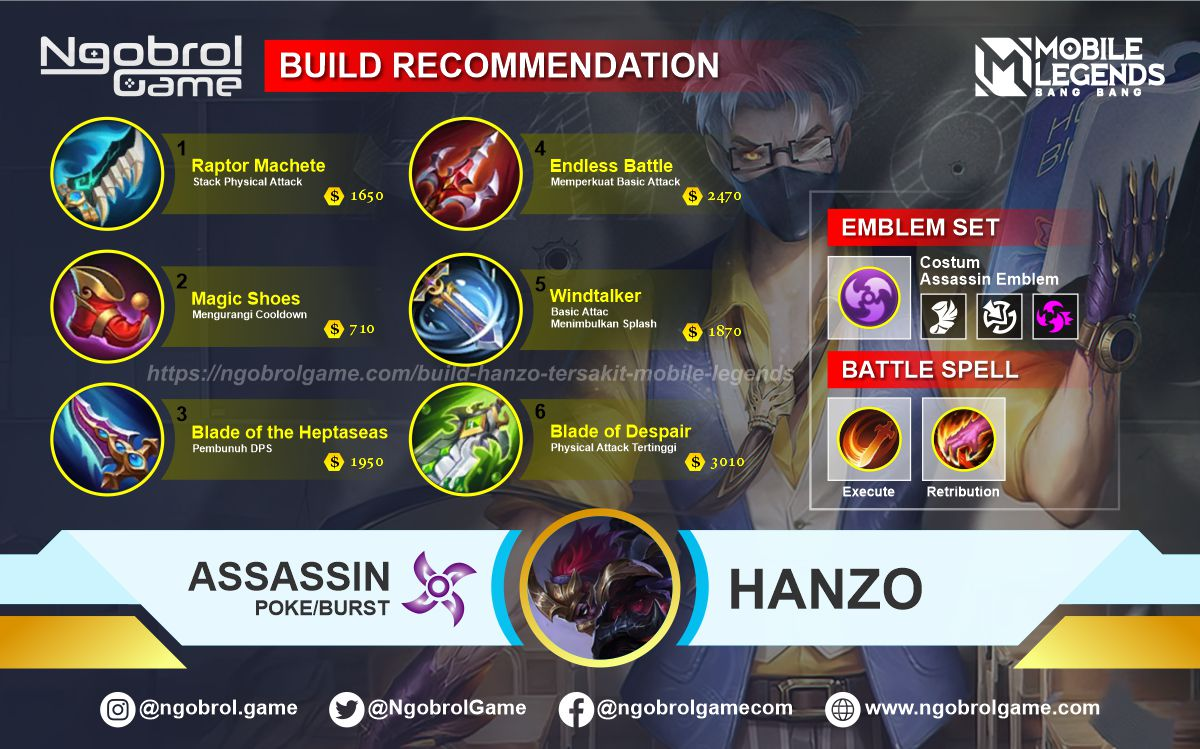 Build Hanzo Savage Mobile Legends