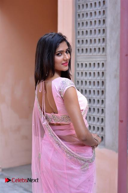 Telugu Actress Shalu Chourasiya Stills in Cute Pink Saree at Pochampally IKAT Art Mela  0004.jpg