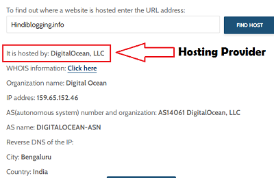 How to Know the hosting company of any website