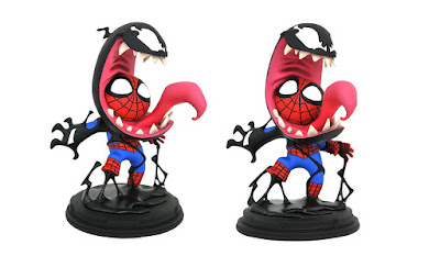 Venom & Spider-Man Animated Marvel Mini Statue by Skottie Young x Gentle Giant x Diamond Select Toys