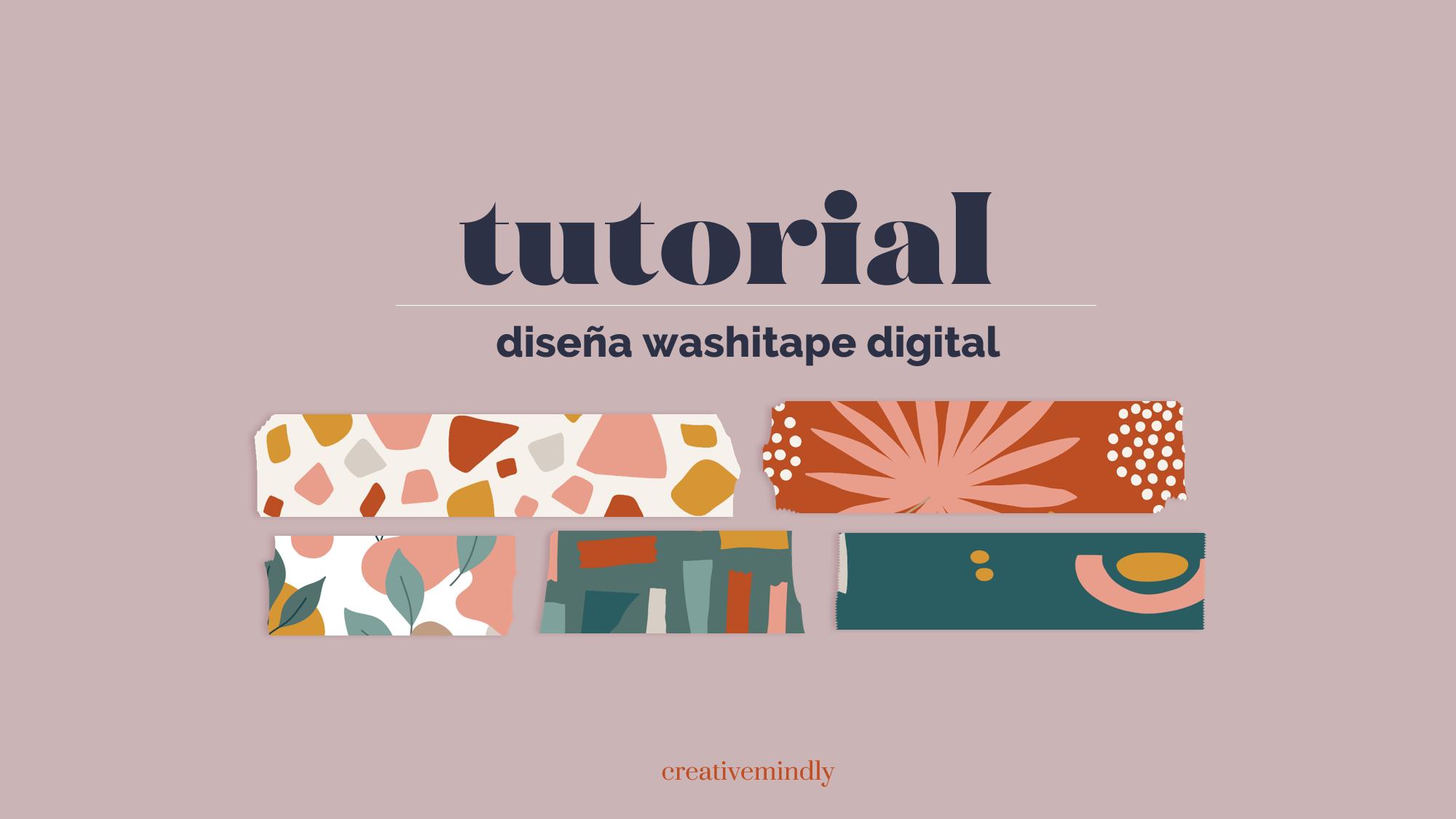 como hacer washitape digital