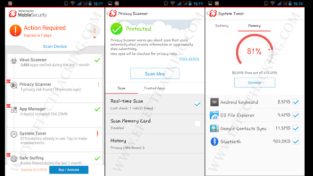 Trend Micro Mobile Security & Antivirus Screenshots