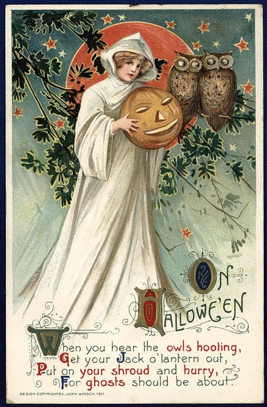 Старинные открытки в честь Хэллоуина - 14