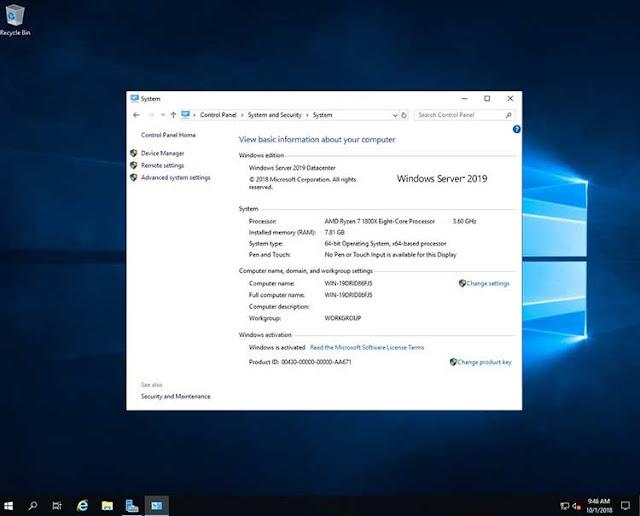تحميل ويندوز سيرفر Windows Server 2019 إصدار