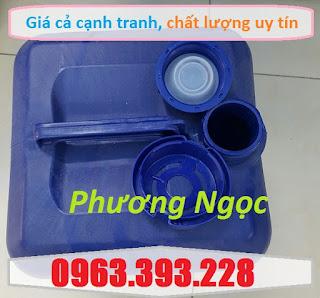 Can nhựa HDPE vuông, can nhựa 20L màu xanh, can đựng hóa chất 20 Lít A062b5ee791e9f40c60f
