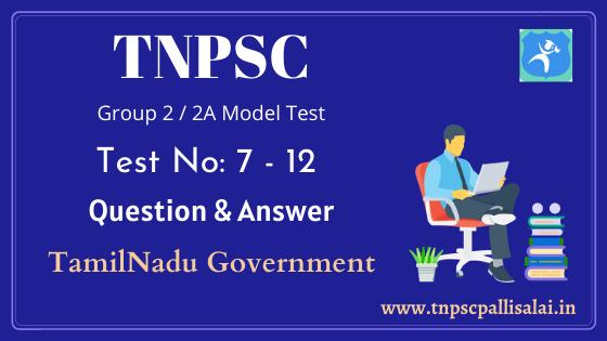 TNPSC group 2, group 2A model test pdf free download