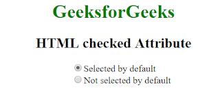 penggunaan atribut checked pada html