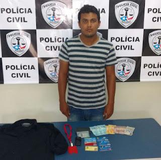 Estudante do curso de direito em Imperatriz é preso pela Policia Civil em Estreito