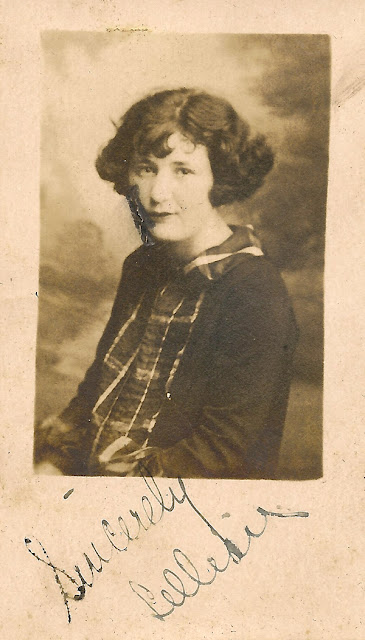 "Photo portrait of ""Lillian."" Friend of Estelle Karvoius. Possibly from Elizabeth, NJ c. 1925-1930."