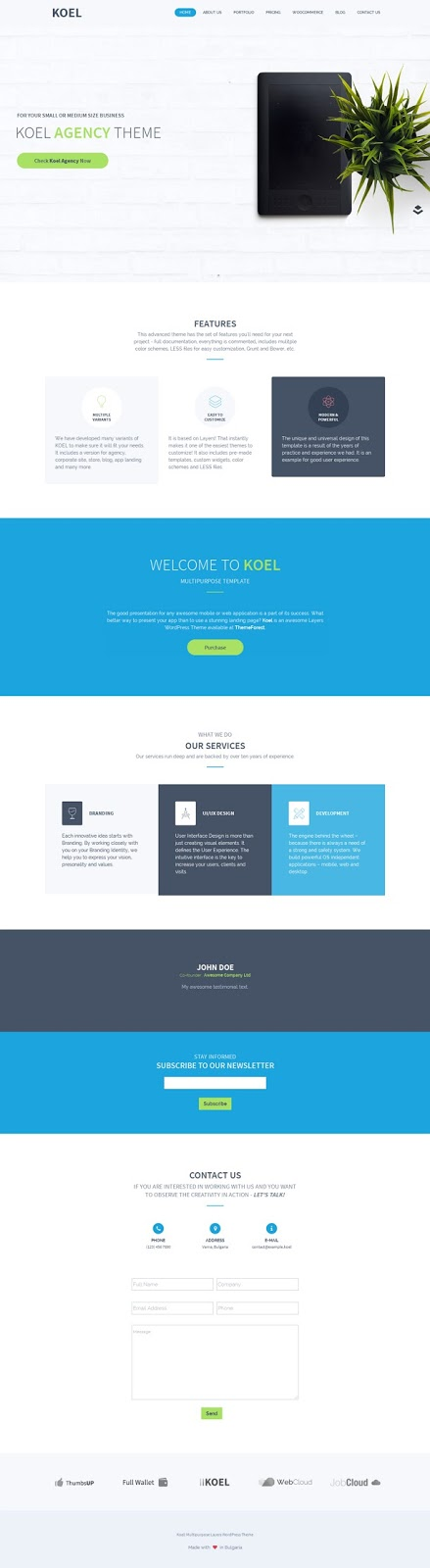 Koel - Multipurpose WordPress Layers Theme