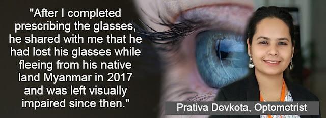 Prativa Devkota, Optometrist