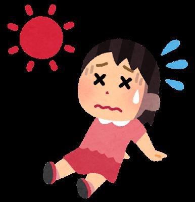 夏バテのイラスト(女の子)