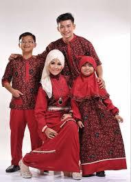 Model Baju Muslim Lebaran Keluarga Modern