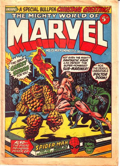Mighty World of Marvel #13, Jim Starlin cover
