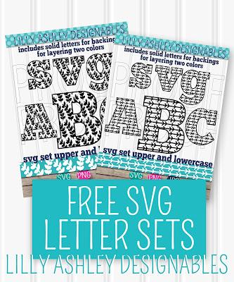 free monogram svg letter sets