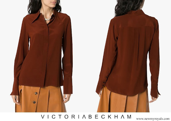 Meghan Markle wore a new silk shirt from Victoria Beckham