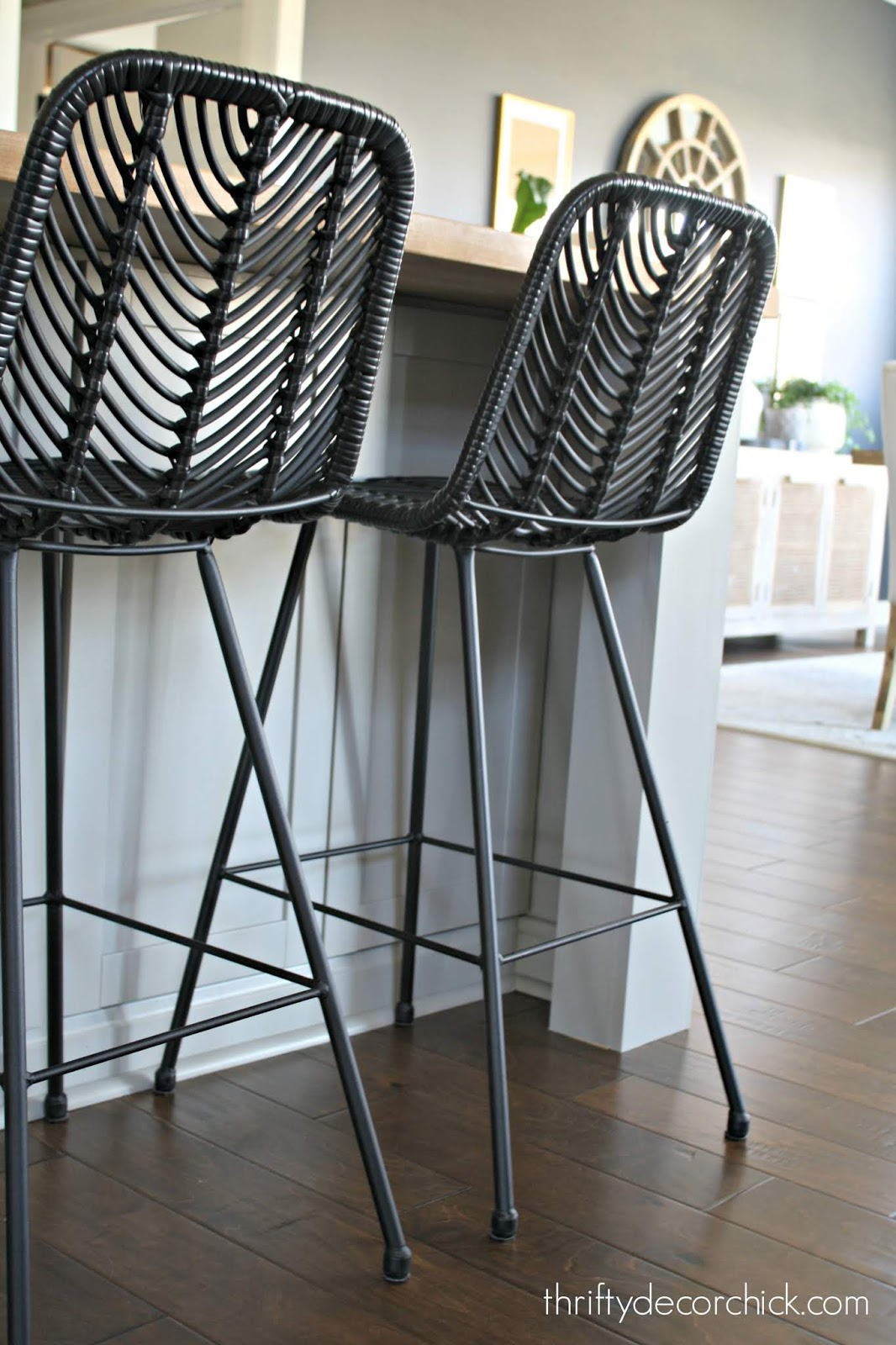 At Home black counter stools