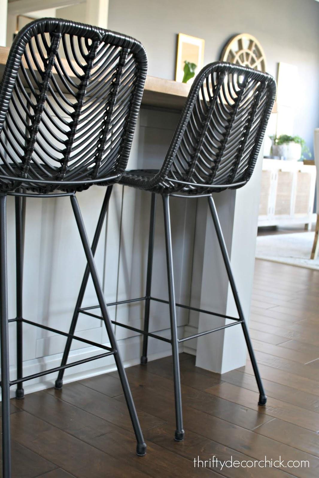At Home black counter stools