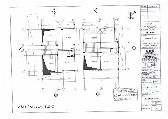 thiết kế cấp phép tầng lửng chung cư minh đại lộc 4