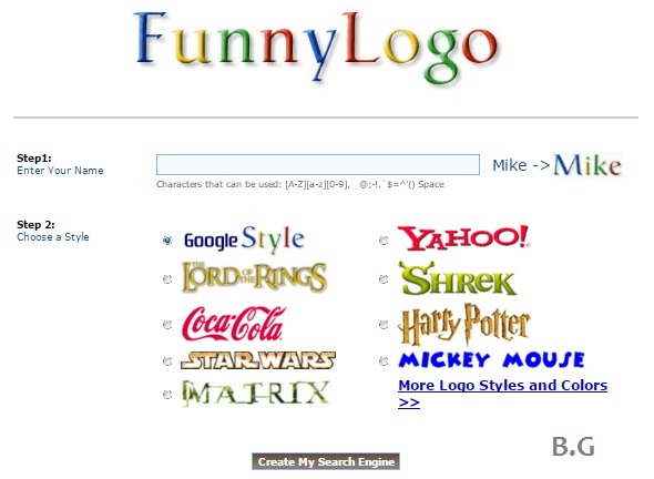 cara membuat logo unik di google search