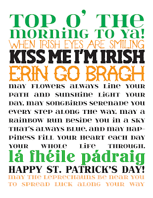St. Patrick's Day Free Subway Art. Click for more holiday #freeprintables