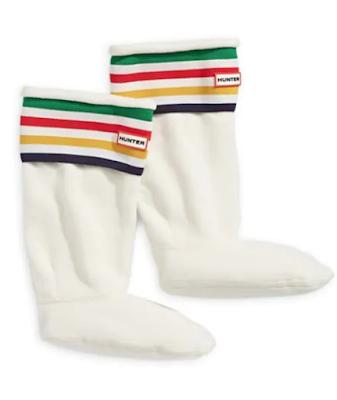 Hudson's Bay Stripe Hunter Boots socks