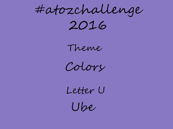 #atozchallenge 2016//U is for Ube