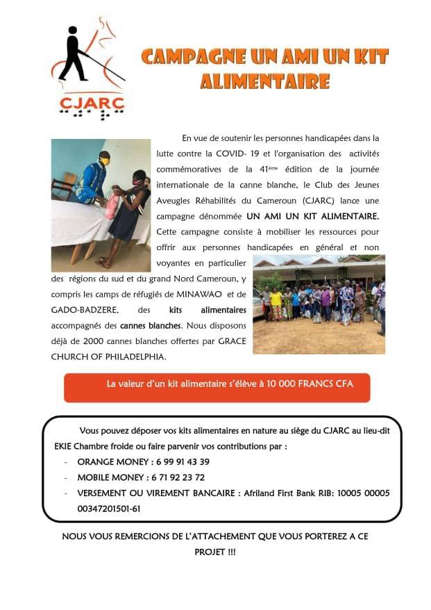 CJARC: Lancement de la campagne « UN AMI UN KIT ALIMENTAIRE »