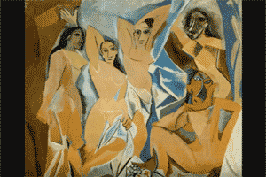 'Las señoritas de Avignon', obra cubista característica del pintor Pablo Picasso