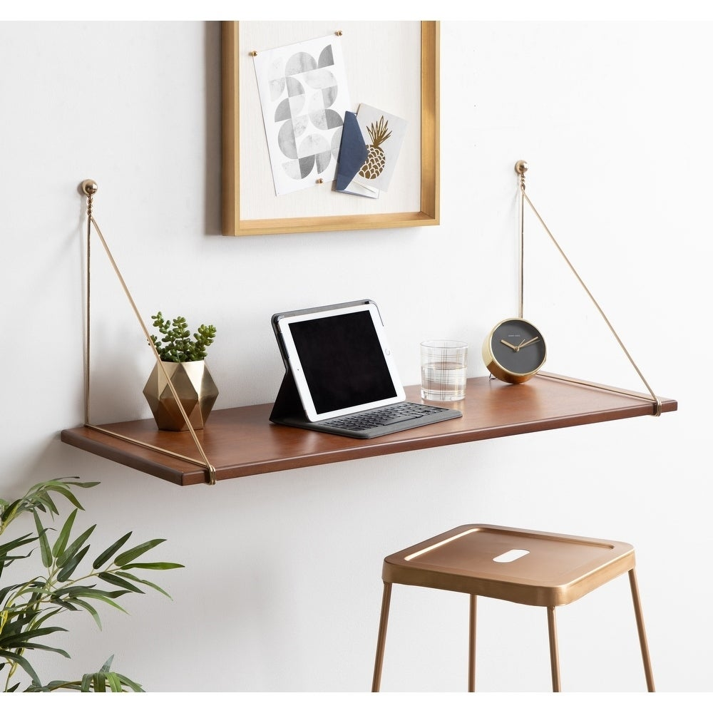 wall mounted wood desk