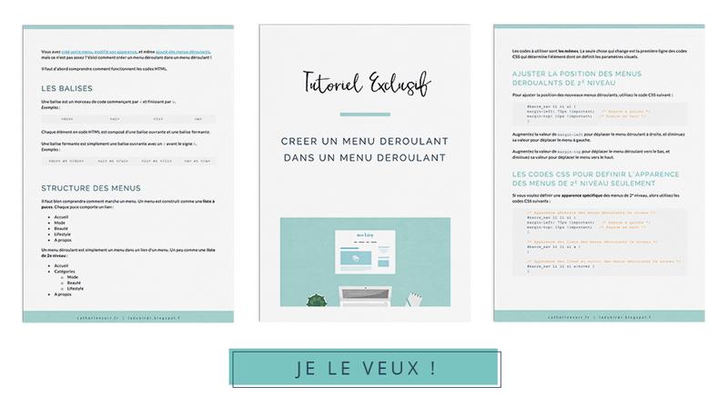 4 bonus exclusifs rien que pour vous - Tutoriel exclusif pour créer un menu déroulant dans un menu déroulant