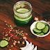 Verfrissend oogmasker van rozenwater en komkommer