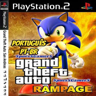 GTA San Andreas Sonic Rampage V4 PT-BR PS2 Baixar