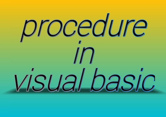 Procedure in vb in hindi | procedure in visual basic